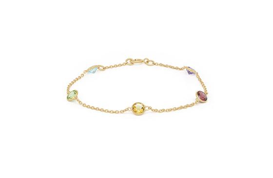 Round Coloured Gemstone Bracelet