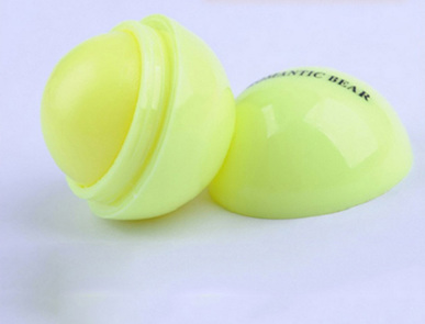 Round Fruity Lip Balm - Yellow