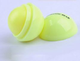 Round Fruity Lip Balm - Yellow