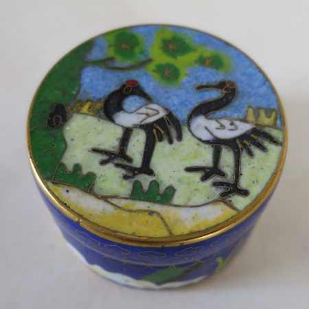 Round lidded pot