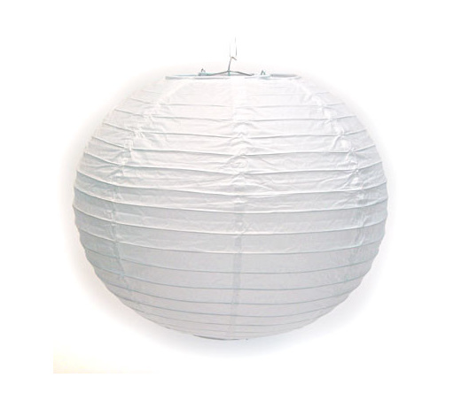 Decorative String Lights Nz : Round Paper Lanterns 30cm - White - Party Lights Company
