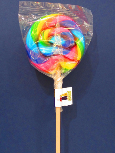 ROUND POP, RAINBOW, ORANGE FLAVOUR, 8cm