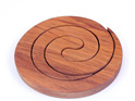 round spiral 2 in 1 table mat kauri