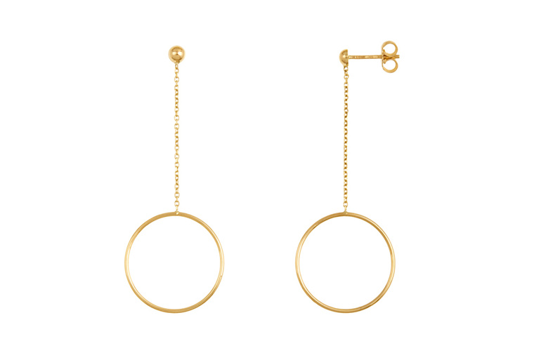 c0f538af16749d Round Yellow Gold Earrings Round Yellow Gold Earrings ...