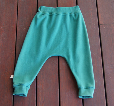 'Rowan' Harem Pants, 'Forest' GOTS Organic Cotton Knit, 6-9m
