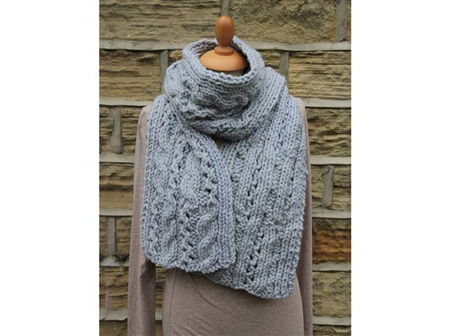 Rowan Patterns: Lace Cable Scarf