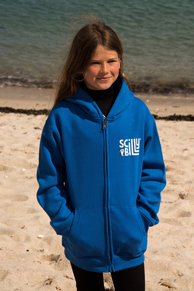 Royal Blue Kids' Hoodie - Zipped
