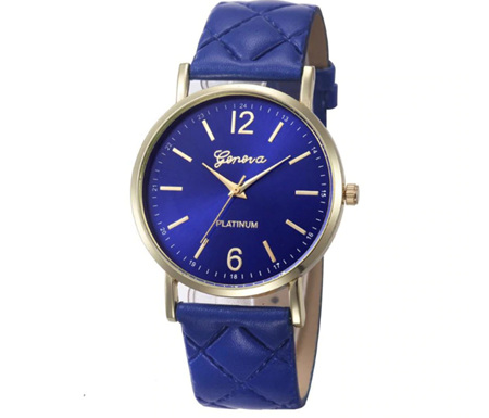 Royal Blue Quilt Style Watch