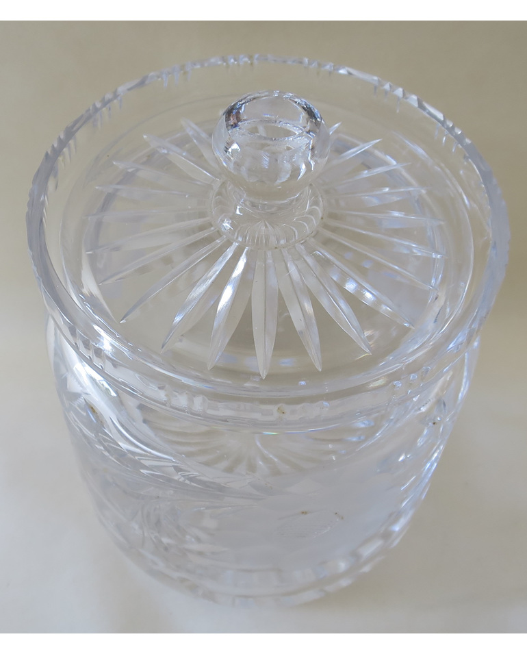 Royal Brierley crystal biscuit barrel
