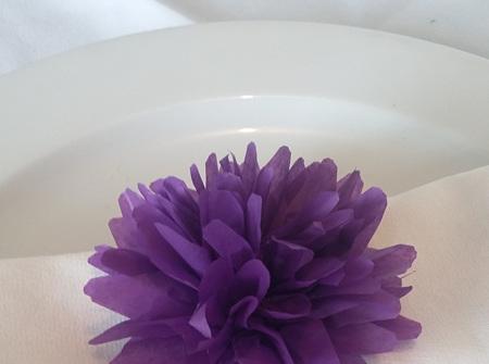Royal purple flower pom pom