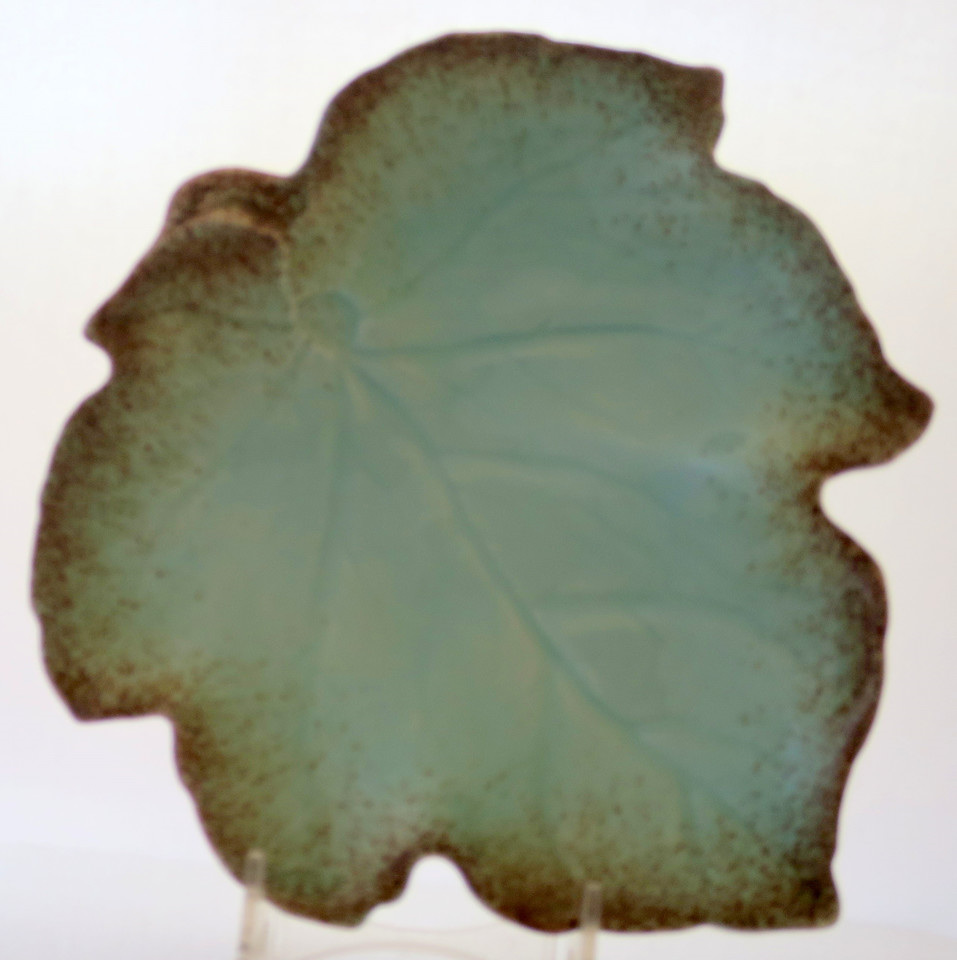 Royal Winton Browns And Greens Leaf Dishes Vintage