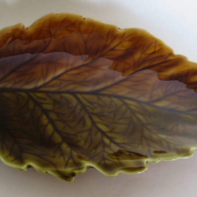 Brown and sultry green leaf dish