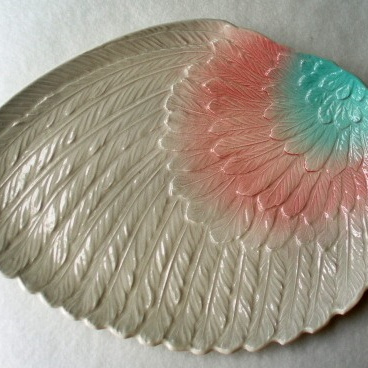 Royal Winton - pink, grey angel wing