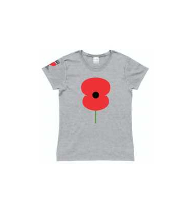 RSA Ladies Poppy Tee Grey