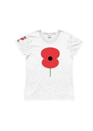 RSA Ladies Poppy Tee White
