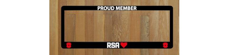 RSA Licence Plate Frames