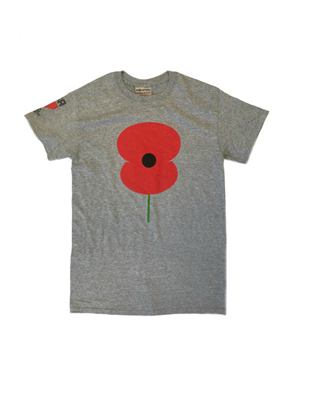 RSA Mens Poppy Tee Grey