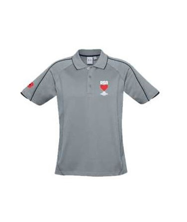 RSA Mens Silver Polo