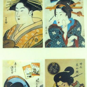 Rub-On Craft Transfers - Japanese Geisha