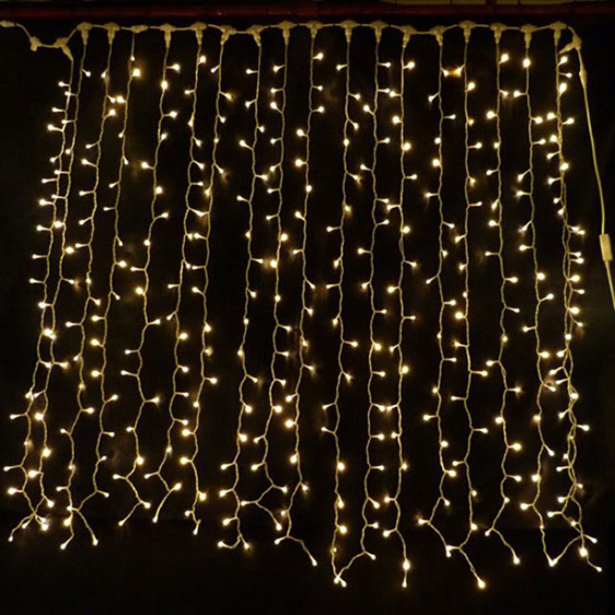 Rubber Wire Curtain Lights Outdoor Fairy Backdrop Xmas
