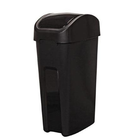 Rubbish Bin Black 55 Litre Flip Top