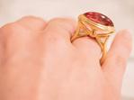 Rubellite Tourmaline Yellow Gold Dress Ring