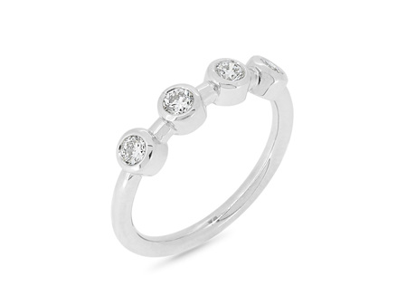 Rubover Set Diamond Wedding Ring