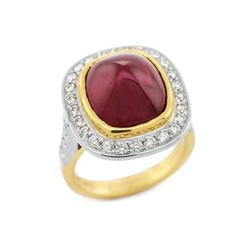 Ruby Cabochon Ring
