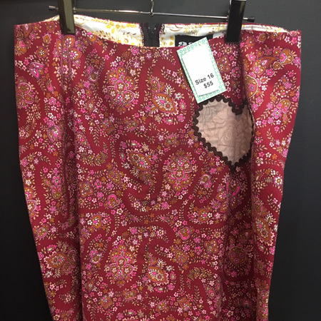 Ruby Red Paisley Skirt - Adult Size 16