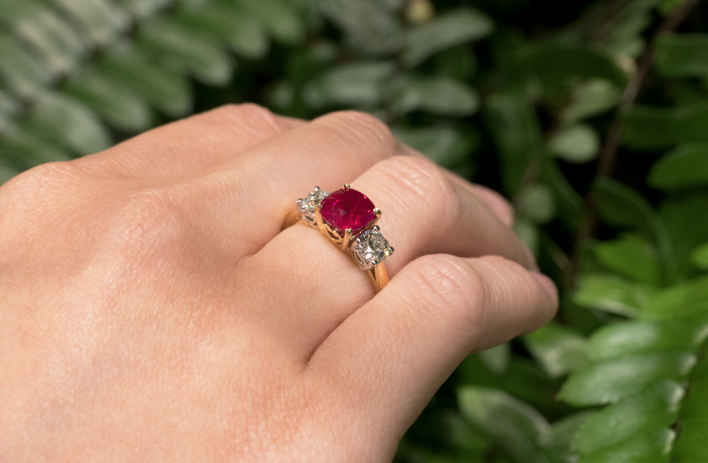 Ruby and Diamond Ring | The Village Goldsmith