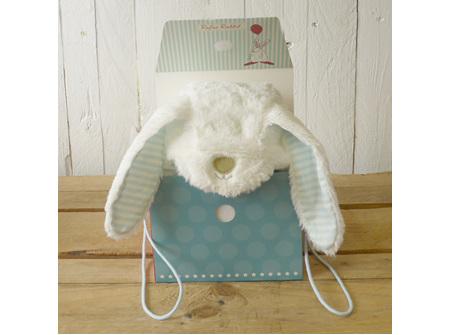 Rufus Rabbit Baby Boy Bonnet  0 - 12 Months- Fluffy