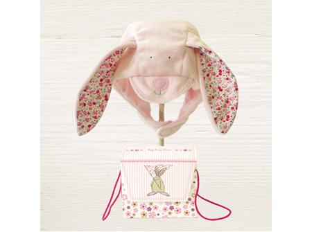 Rufus Rabbit Baby Girl Smooth Bonnet 0-12Months