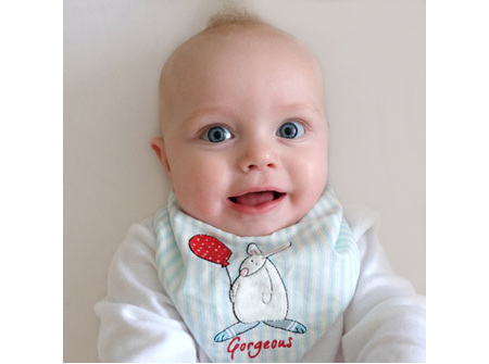 Rufus Rabbit Deluxe Dribble Bib - Newborn to 12 Months