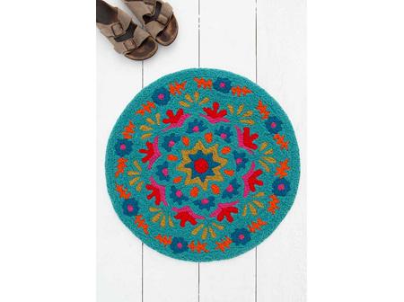 Rug Round-Blue Mandala