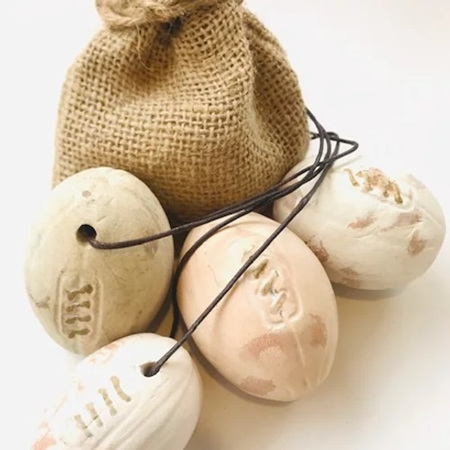 Rugby Ball Clay Pebble Diffuser with Lemongrass & Ginger Oil