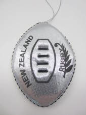 Rugby ball tree decoration.