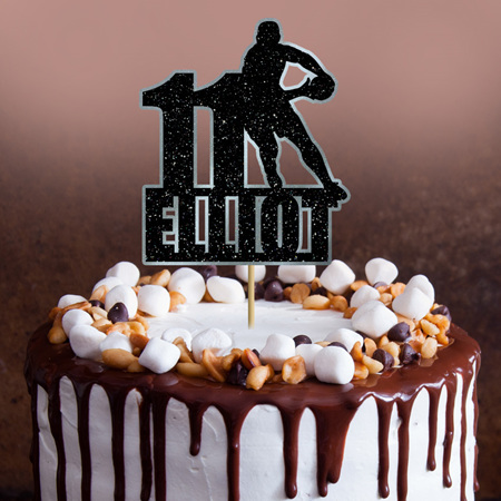 Rugby / Rugby League Cake Topper Personalised