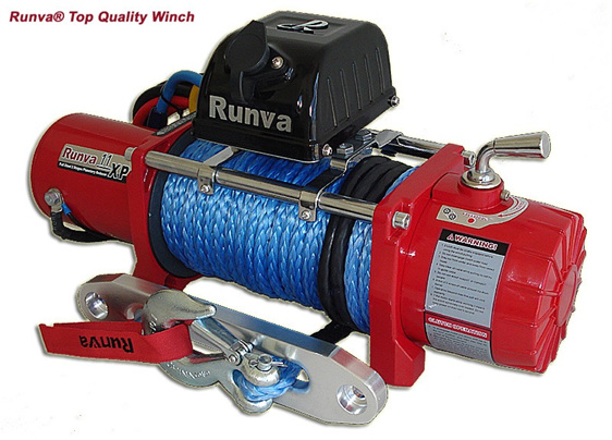 Runva 4WD winch, Winch challenge, recovery, fast winch, plasma, dyneema
