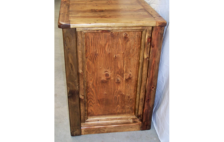 rustic bar/counter
