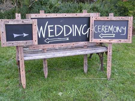 Rustic Blackboard with Stake