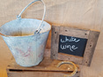 Rustic bucket wedding and event hire