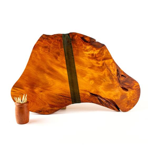 rustic natural edge board ancient kauri - 482