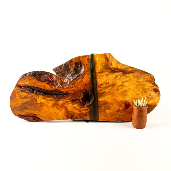 rustic natural edge board ancient kauri - 486