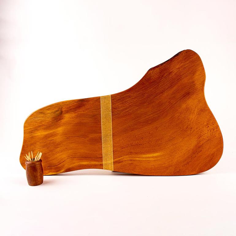 rustic natural edge board ancient kauri - 491
