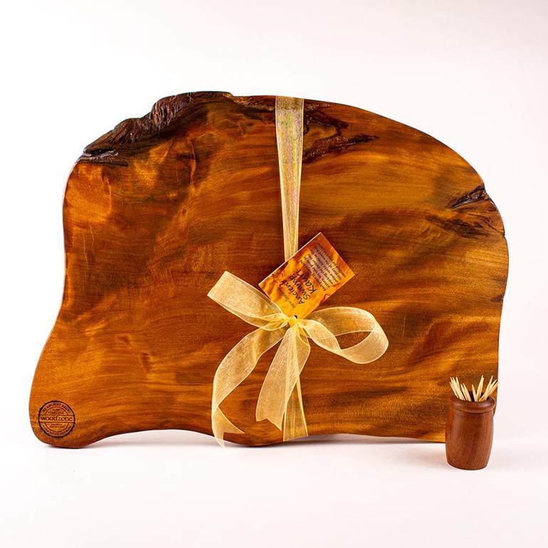 rustic natural edge board ancient kauri - 493