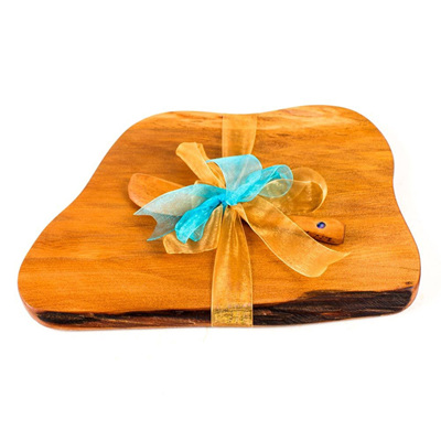 Rustic Natural Edge Board and Knife Set 241