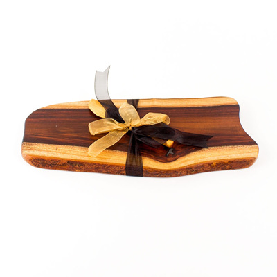 Rustic Natural Edge Board and Knife Set 332