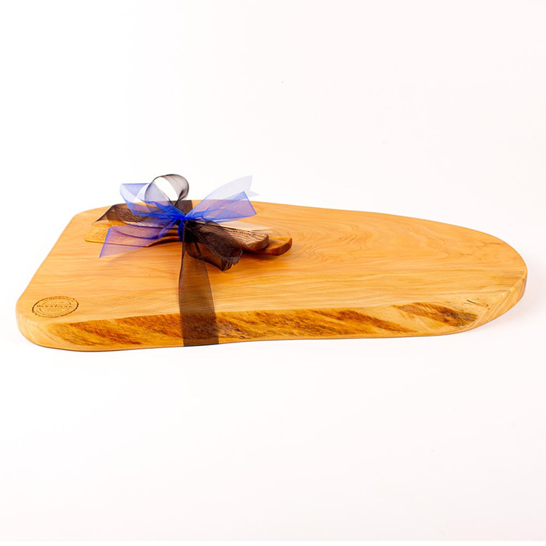 Rustic Natural Edge Board and Knife Set 439