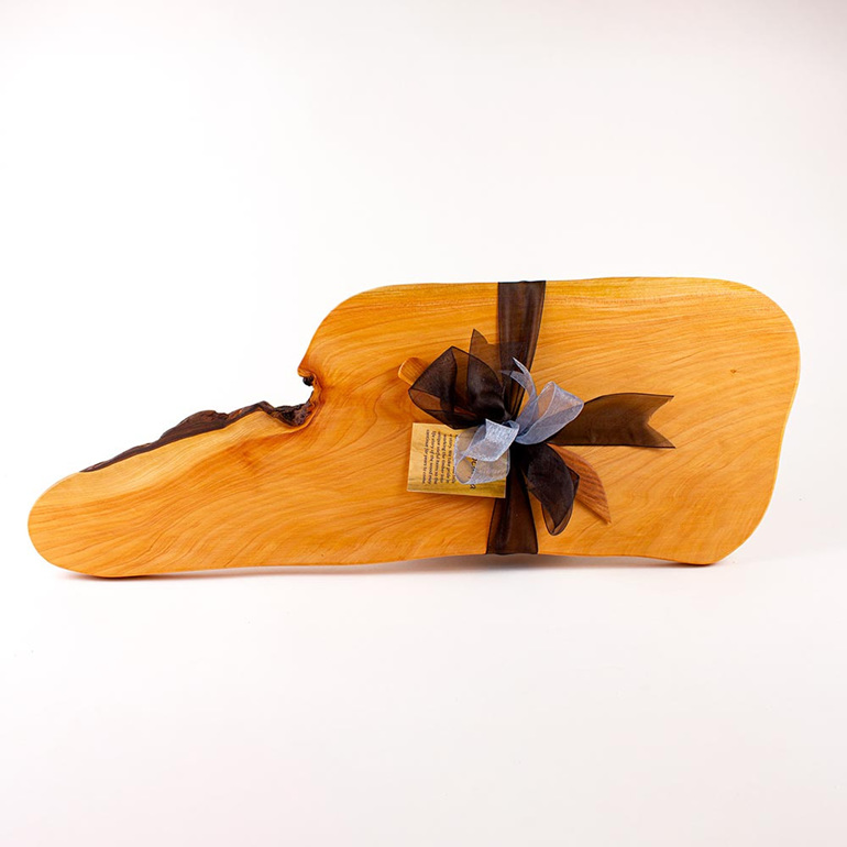 Rustic Natural Edge Board and Knife Set 461