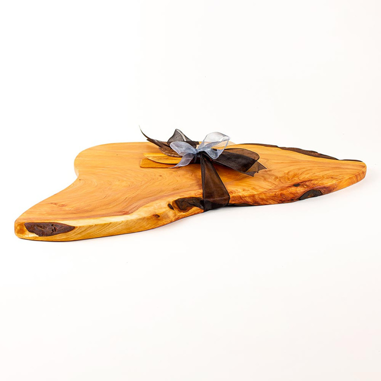 Rustic Natural Edge Board and Knife Set 463